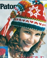 Womens HATS Knitting Crochet PATTERNS   Beret Hood Toques Nordic Aran Fairisle