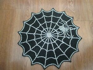 NEW Nicole Miller HALLOWEEN Spiderweb & Spider Beaded Placemat Charger