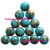 20 Pieces 4x4 mm to 11x11 mm Round Natural Green Copper Turquoise Cabochon Loose Gemstone Natural Green Copper Turquoise