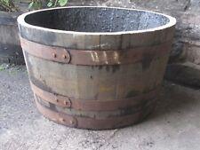 Half Solid oak Whisky barrel planter garden Patio lawn tub flower pot