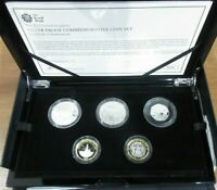 2015 5 Coin UK Commemorative Silver Proof Set From Royal Mint Boxed With COA
