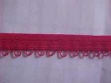 7/16 Matte RED Picot Loop Edged Elastic Corset 5 yds. Lingerie Doll Headbands