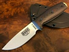 ESEE Knives 3 Desert Tan Blade Blood/Black G10 3D Handle Black Sheath 3PMDT-004