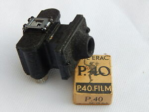 Vintage WW2 MERLIN SUB MINIATURE Metal Body SPY MICRO CAMERA with Film Spools