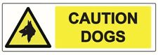 3 Pack CAUTION DOGS WARNING SAFETY STICKERS Signs for Doors, Walls, Windows, Car