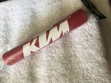 KTM 125 250 400 420 495 500 NOS Vintage Crossbar Pad Red & White NEW!