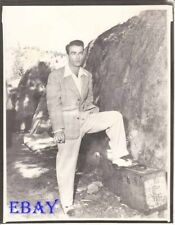 Montgomery Clift cigarette in 1 hand and 1 foot on ammo box   RARE Photo