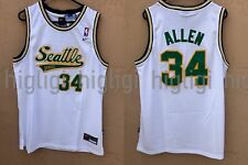 NWT Ray Allen  34 NBA Seattle Supersonics Swingman Throwback Jersey Man -  White 978ae0510
