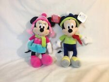 """Mickey And Minnie Mouse Plush Toys by Just Play, 7"""" Dressed for Winter"""