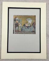 1929 Antique Print Italian Byzantine Mosaics Palermo Sicily Italy Basilica