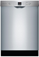 Bosch SHEM3AY55N 100 Series Front Control Tall Tub Dishwasher Stainless Steel