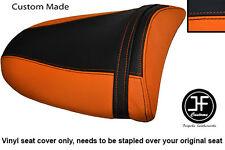 ORANGE & BLACK VINYL CUSTOM FITS KAWASAKI Z750 Z1000 04-06 REAR SEAT COVER ONLY