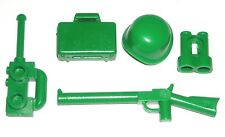 LEGO TOY STORY ARMY MAN MINIFIGURE ACCESSORIES Gun Helmet Radio Briefcase Binocs