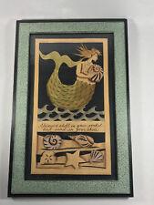 Pam John Rankin Hults framed art mermaid seashell paper cuts