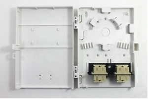 Molex Compact Wall Mount 8 Port Duplex SC Style Loaded with MM Adpaters