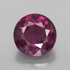 3mm ROUND FACETED PURPLISH PINK GENUINE RHODOLITE GARNET LOOSE GEMSTONE