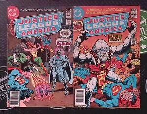 Justice League of America Lot of 10 (#176-258) DC Comics Superman Wonder Woman