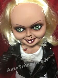 "15"" Childs Play Mega Scale Bride of Chucky Mezco Tiffany Talking Doll New Horror"