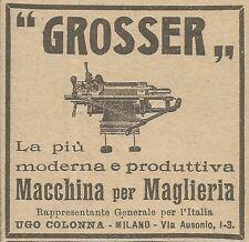 W5920 Grosser - Macchina per maglieria - Pubblicità 1924 - Advertising