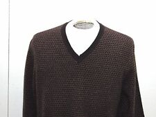 BROOKS BROTHERS Sweater Brown/tan  Lambswool Men's L V Neck