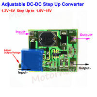 Mini DC Boost Step up Adjustable Converter 1.2v-6v to 1.5v-15v 3.3v 5v 6v 9v 12v
