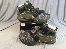 59831be55a2b Nike Lebron Soldier IX PRM Basketball Shoes Green Camo 749490-303 Men s ...