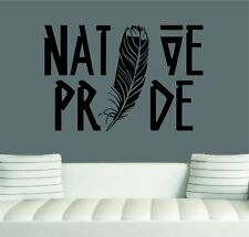 "Native Pride Feather Wall Decal/Sticker Art  24""X 16"" Native Home Decor"