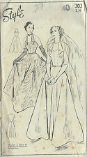 "1940s Vintage Sewing Pattern B40"" WEDDING & EVENING DRESS (R583)"