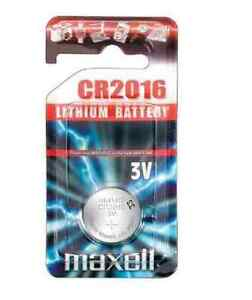 Maxell CR 2016 CR2016 Lithium 3V Watch Button Cell Battery / Cameras