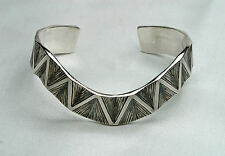 """James Avery 7"""" Bracelet - Retired Sterling Silver Thatch Wave Cuff - GREAT DEAL!"""