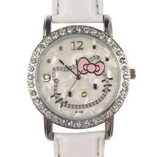 Reloj HELLO KITTY blanco con brillantes A1101