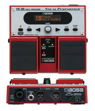 BOSS VE-20 VOCAL PERFORMER VOCODER EFFECTS PEDAL PROCESSOR & POWER SUPPLY