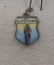 Vintage REU .925 Silver/Enamel Altotting, Germany Travel  Charm - New
