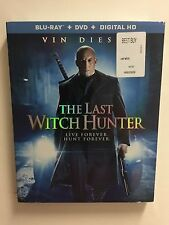 The Last Witch Hunter (Blu-ray Disc, 2016, 2-Disc Set) NEW w/slipcover