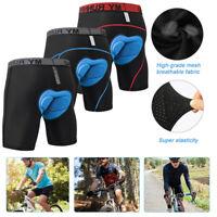 Herren Fahrradhose 4D Gel Sitzpolster Radlerhose Unterhose Polster MTB Shorts