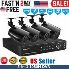 4CH 1080N AHD DVR Outdoor 720P IP Camera CCTV Home Security System Night Vision