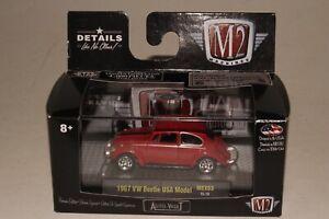 M2 MACHINES AUTO-VAULT 1967 VOLKSWAGEN VW BEETLE BUG, RED, 1:64, NIB