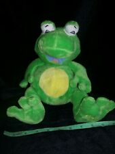 Htf Nuby Tickle Toes Green Frog Stuff toy Plush Yellow 2007 Beans laughs works