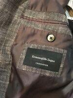 NWOT $2495 Ermenegildo Zegna Crossover Sport Coat Milano 58R 46R Linen Wool Silk