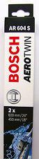 BOSCH Spazzola Tergicristallo 3397118908 SET ANTERIORE AR604S 600/450mm KIT