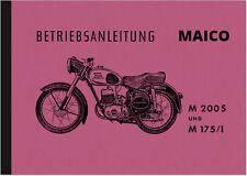 Maico M 200 S und M 175/1 Bedienungsanleitung Handbuch Betriebsanleitung Manual