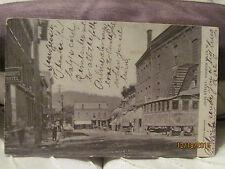 1908 Postcard view of John Street Hoosick Falls NY New York  postally used