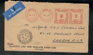 KENYA,UGANDA,TANGANYIKA COVER (P3008B) 1964 METER COVER 100+30 A/M TO ENGLAND