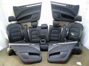 SKODA SUPERB MK 2 COMPLETE BLACK LEATHER INTERIOR SEATS ARM REST ESTATE 2008-16