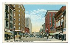 Unused White Border Pre 1930 Postcard Main St Bridgeport Conn
