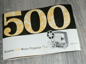 Kodak Brownie 500 Model A-5 Original Manual