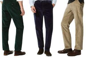 Ex M&S Mens Corduroy Cord Cotton Trouser Pants Formal Smart Stretch Luxury Cords