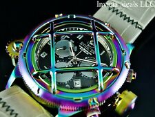 Invicta 52mm Russian Diver Nautilus Swiss Chrono Iridescent Case Cage Dial Watch