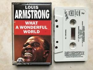 LOUIS ARMSTRONG WHAT A WONDERFUL WORLD K7 AUDIO TAPE c21