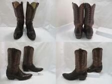 Men's Sheplers Brown Snake Skin Cowboy Western Boots sz: 10.5 D (#19310 H)